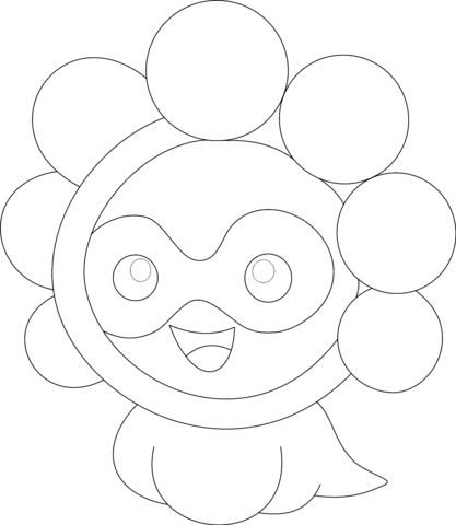Castform in Sunny Form Coloring page