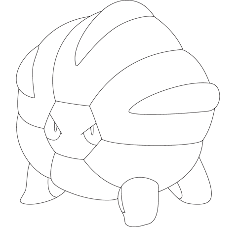 Shelgon coloring page