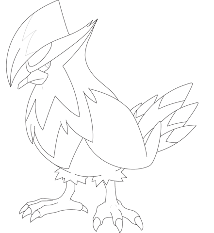 Staraptor coloring page