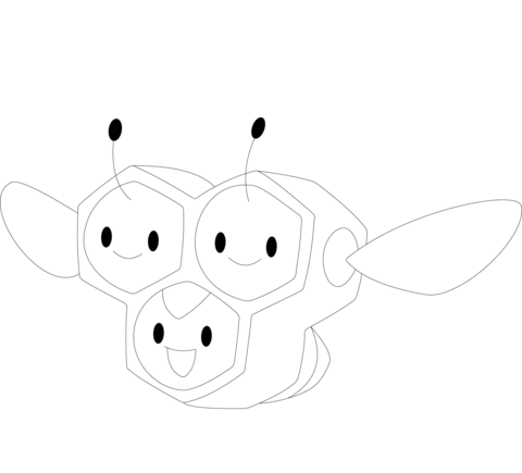 Combee coloring page