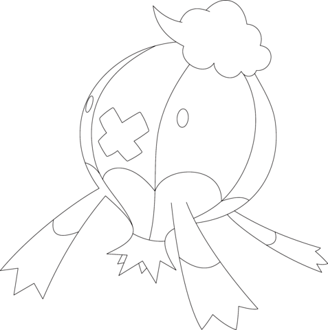 Drifblim coloring page