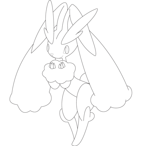 Lopunny coloring page
