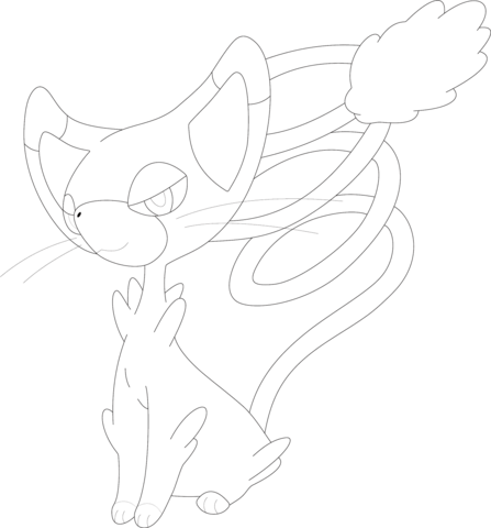 Glameow coloring page