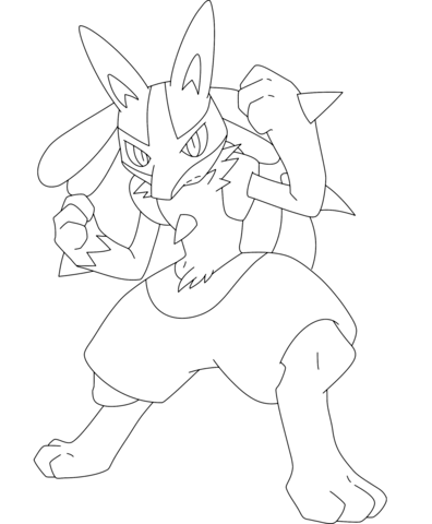 Glaceon coloring page - Free Printable Coloring Pages