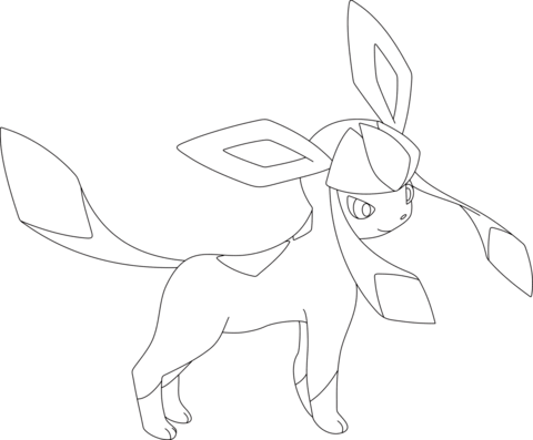 Glaceon coloring page