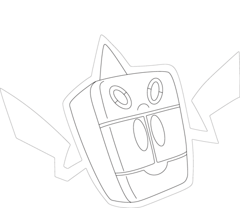 Rotom in Frost Form coloring page
