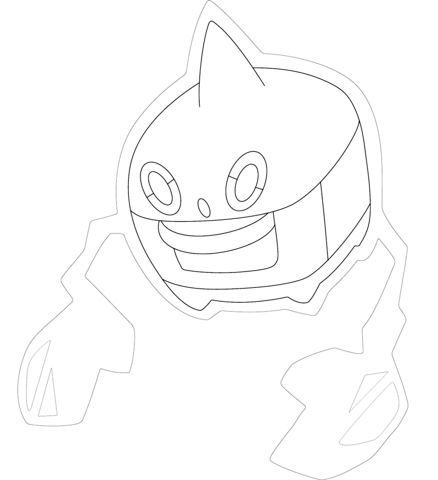 Rotom in Heat Form coloring page