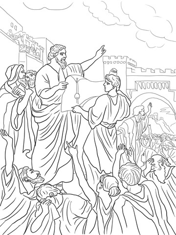 Nehemiah Rebuilding the Walls of Jerusalem coloring page - Free ...