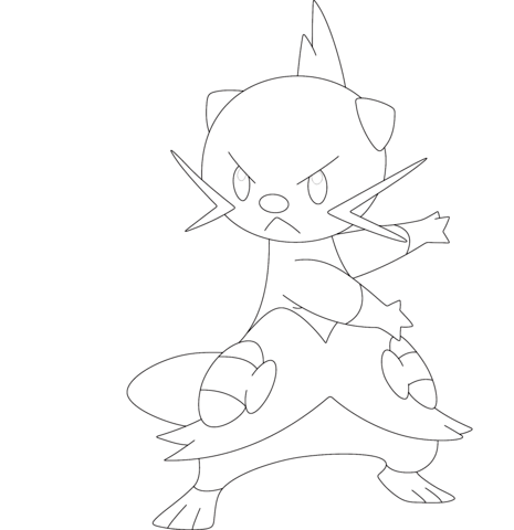 zoroark coloring page dewott coloring page