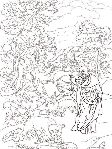 Elisha and the Bears coloring page - Free Printable Coloring Pages