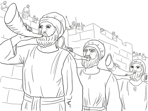 Joshua and Caleb Returning from Canaan coloring page - Free ...