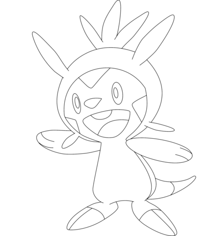 Swirlix Coloring Page Chespin