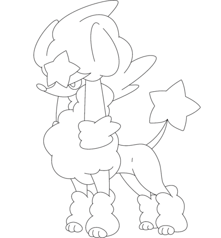 Espurr Coloring Page Furfrou In Star Style