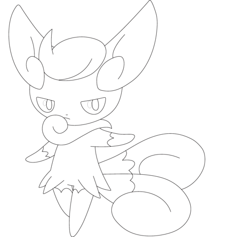 Hawlucha Coloring Page Female Meowstic