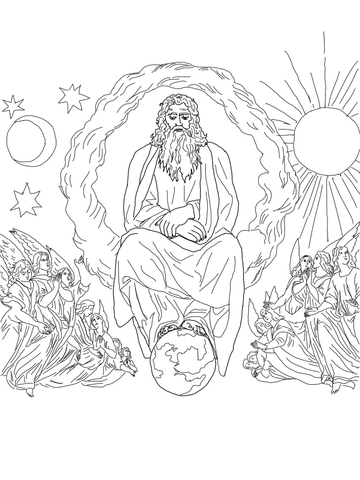 Sabbath – Seventh Day of Creation coloring page