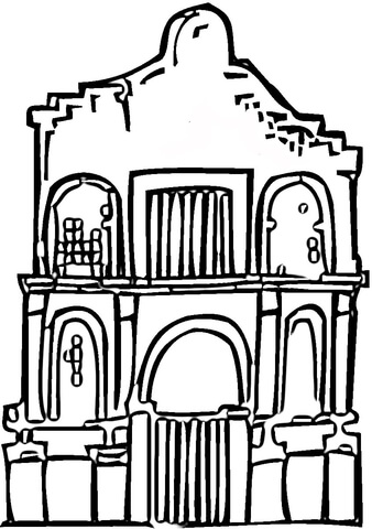 Alamo monument coloring page