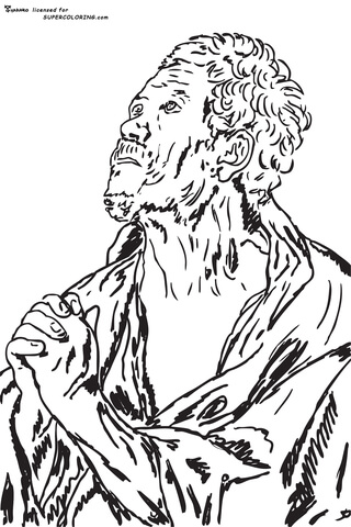 An Apostle By Jacob Jordaens  coloring page