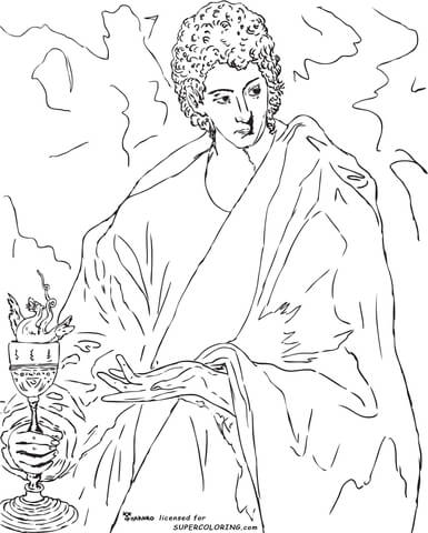 Apostle St John The Evangelist By El Greco  coloring page