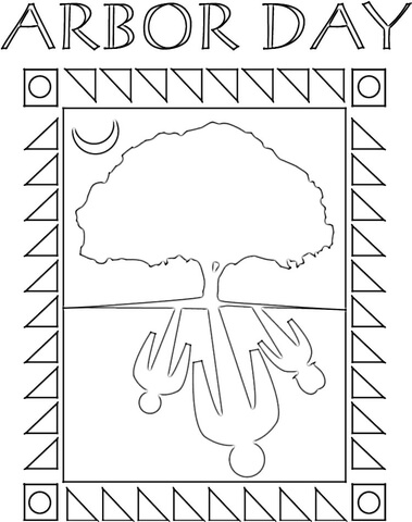 Arbor Day Poster  coloring page