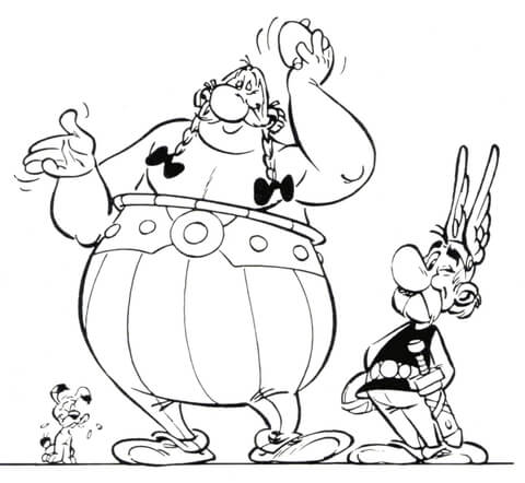 Asterix and Obelix  coloring page