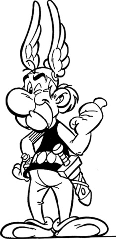 Asterix  coloring page