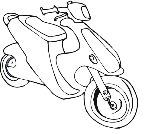 Bmw Motorcycle Coloring Page
