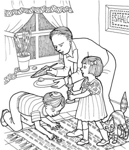 Bread For Passover Coloring Page