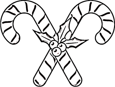 Candy Canes  coloring page