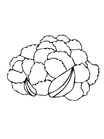 Cauliflower Head coloring page