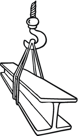 Crane At Work  coloring page