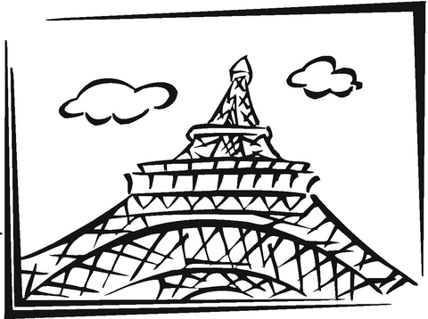 Eiffel Tower In Paris coloring page - Free Printable Coloring Pages