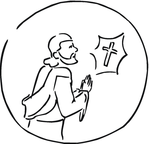 Faithful coloring page