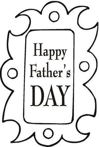 Father's Day Greeting Card  coloring page