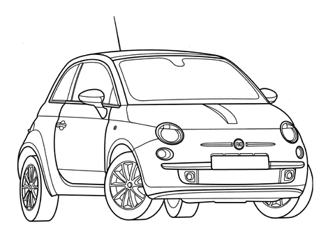 Fiat 500  coloring page