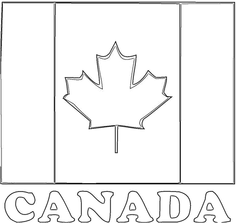 Flag Of Canada  coloring page