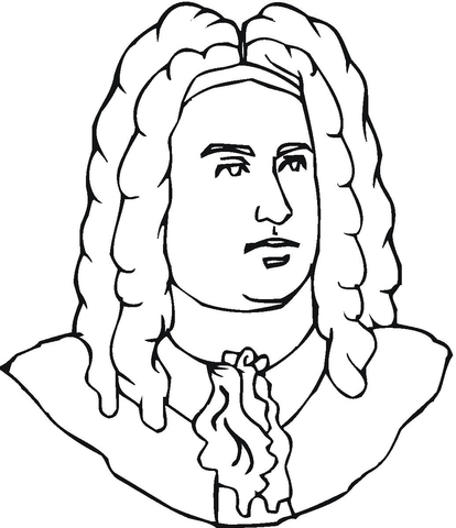 franz schubert coloring page george handel coloring page