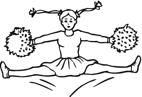 Great Cheerleader  coloring page
