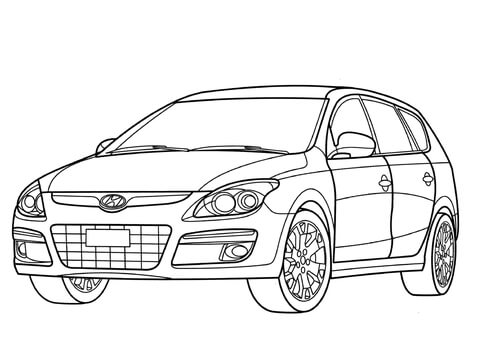 Chevrolet Corvette coloring page - Free Printable Coloring Pages