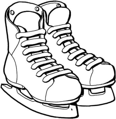 speed skating competition coloring page ice skates coloring page