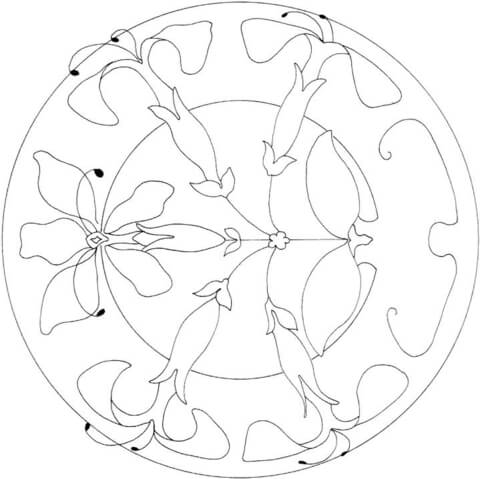 Lilies Ornament  coloring page