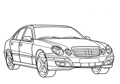 mercedes e700 coloring page mercedes e class coloring page