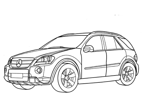 mercedes ml class coloring page