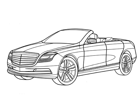 Mercedes Ocean Drive  coloring page