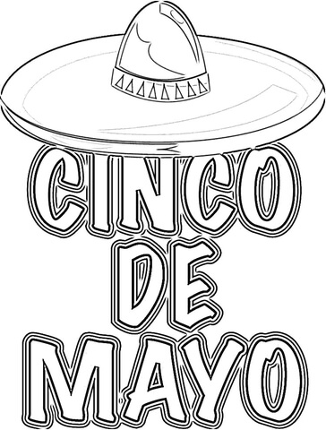 Mexican Great Holiday  coloring page