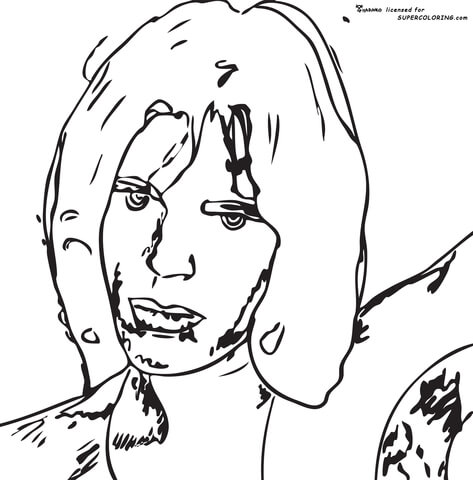 Mick Jagger By Andy Warhol  coloring page