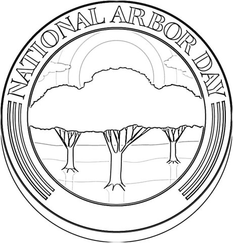National Arbor Day  coloring page