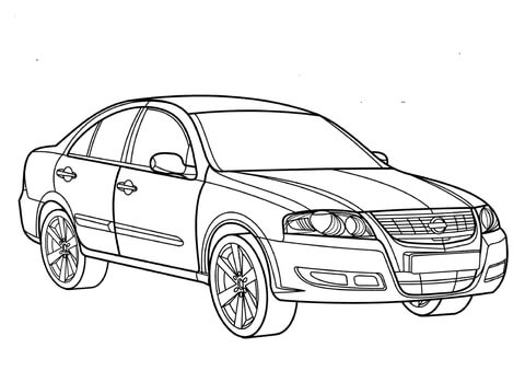 Toy Car coloring page - Free Printable Coloring Pages