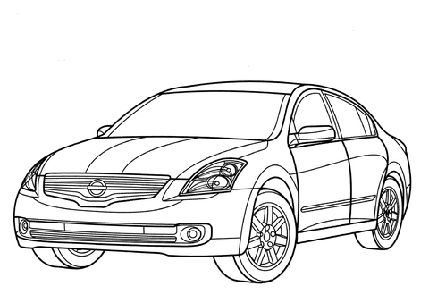 Infiniti Fx Coloring Page