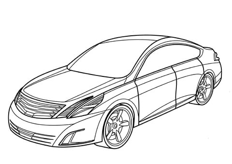 nissan dunehawk coloring page nissan intima coloring page