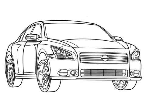 Nissan Frontier Coloring Page Free Printable Coloring Pages